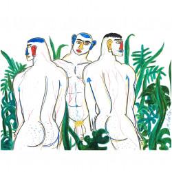 THREE MEN IN A JUNGLE (SOLD)