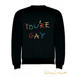 YOU'RE GAY SUDADERA NEGRA
