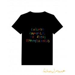 CUIDADO CHAVALE BLACK TSHIRT