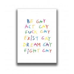 BE GAY PRINT