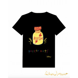 POPPER ART BLACK TSHIRT