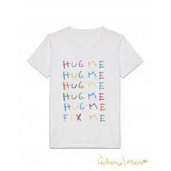 HUG ME FIX ME CAMISETA BLANCA