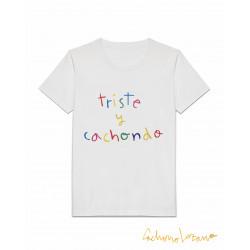 TRISTE Y CACHONDO WHITE TSHIRT