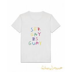 SER GAY ES GUAY WHITE TSHIRT