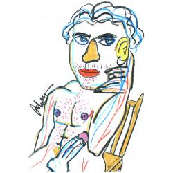 Retrato de hombre sentado