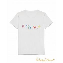 KISS ME WHITE TSHIRT